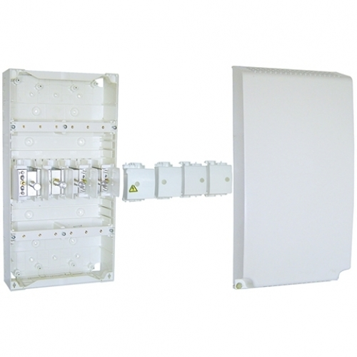 2/ rang/ées 4,6,8,12,18,24,36/ Modules /Ø68/ Petit distributeur IP40/ Montage en saillie de distribution 1